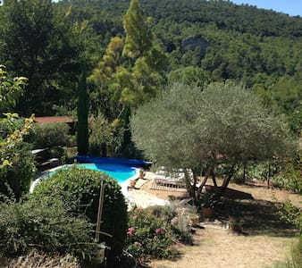 Studio with private terrasse and swimming pool - Signes