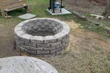 New fire pit added for our guests