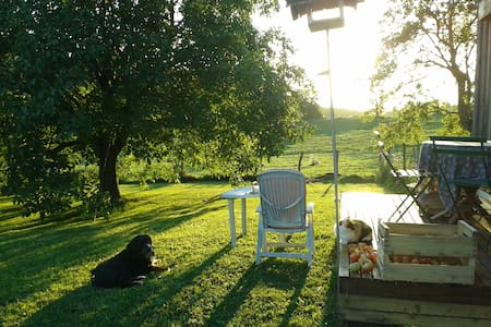 Maison en bois, à la campagne, coeur vignoble - Sellières