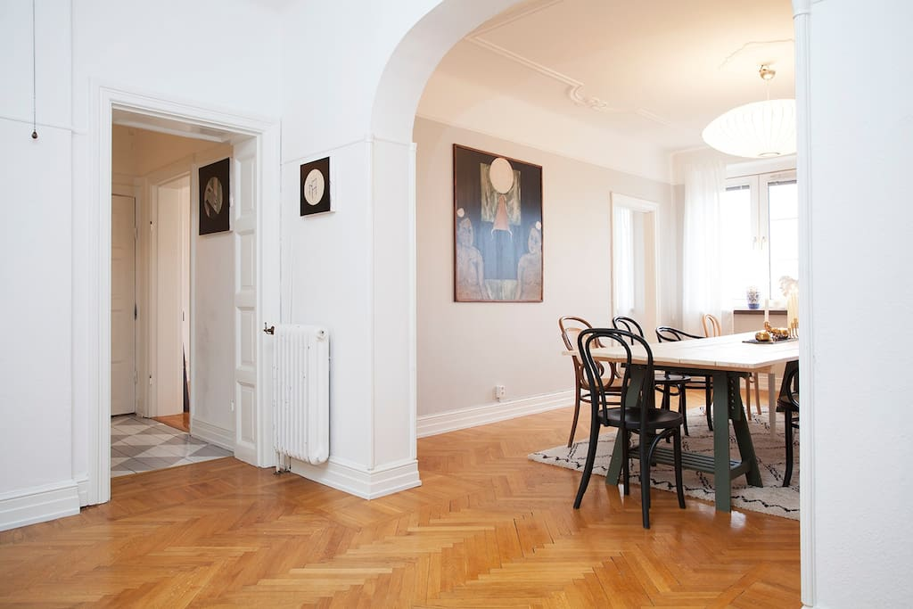 Dining room and large entrance hall