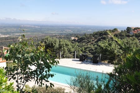 Villa with swimming pool, seaview - Le Boulou