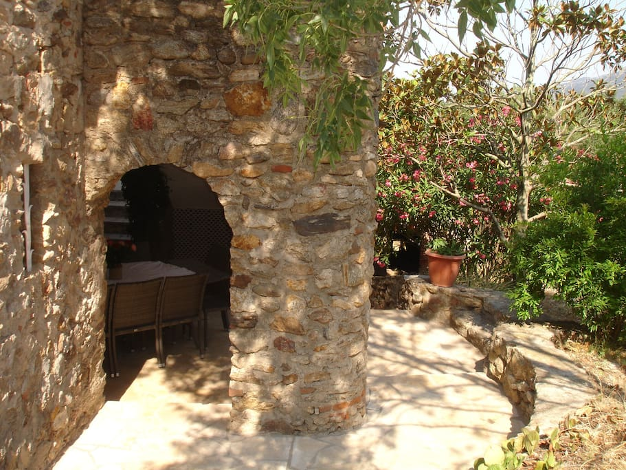 Entrance from private courtyard