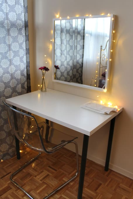 Vanity or you can use as work space.