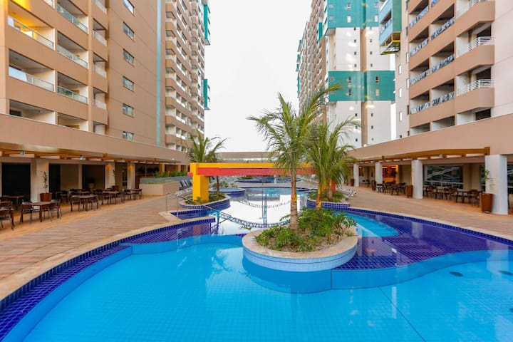 Olimpia Park Resort - flat com suíte