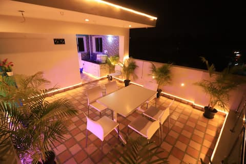 Scenic Stay at Tambaram with projector setup