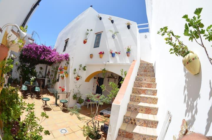 Casa EncantHADA.Patio y terrazas con vistas.Centro
