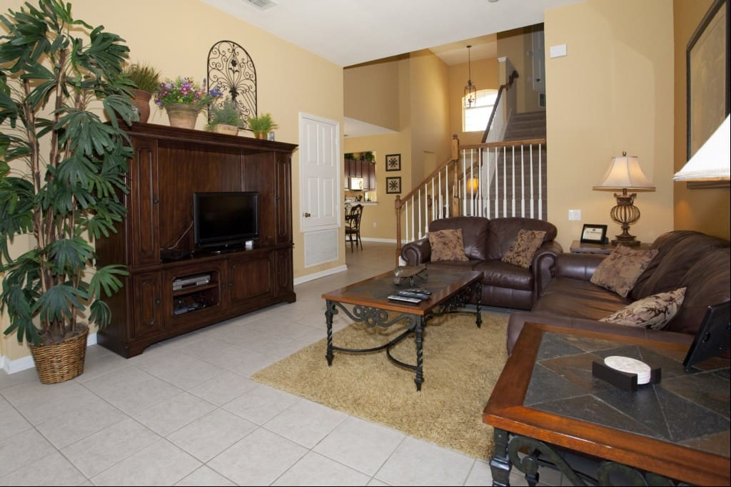 Kick back and relax in the spacious living area