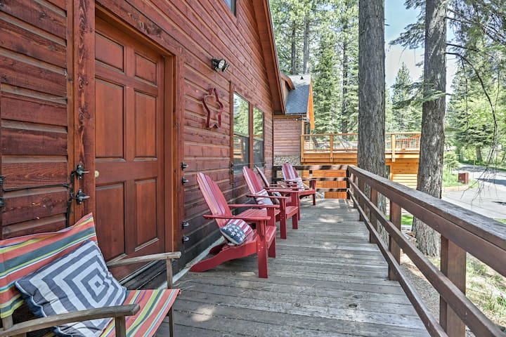 Rustic Tahoe City Cabin w/ Deck - Walk to Lake