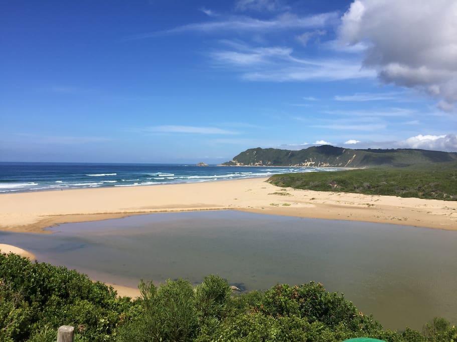 Beach and blue Lagoon, Myoli Beach