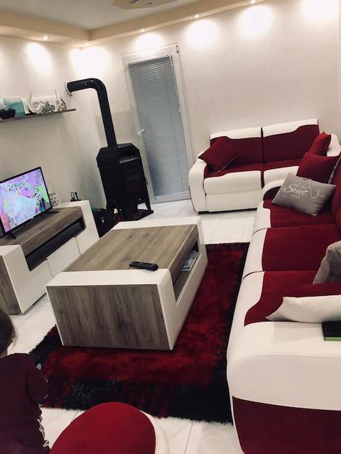Neu/Modernes-Haus Luxusklasse mit Garage, Garten, Kamin,jogaraum.