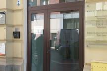 Entrance from Zgoda street. Intercom 35