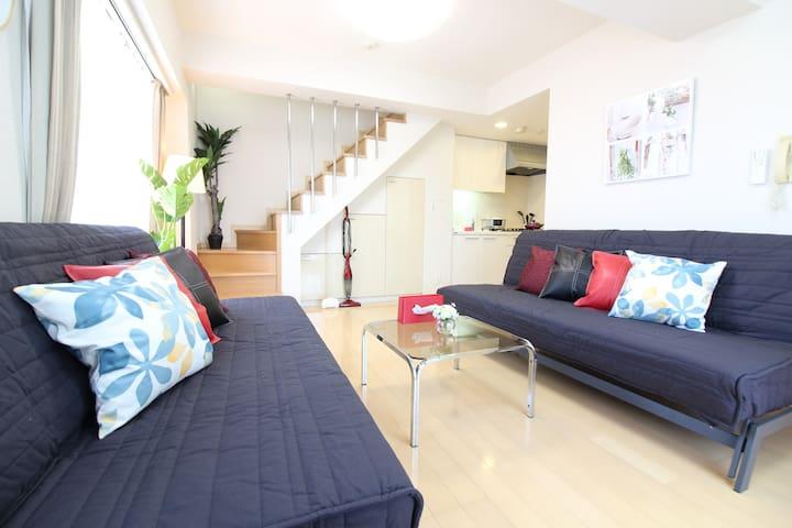 50㎡ 4 double beds 8ppl★Okubo大久保/Shin-okubo新大久保★ - Shinjuku-ku - Apartment