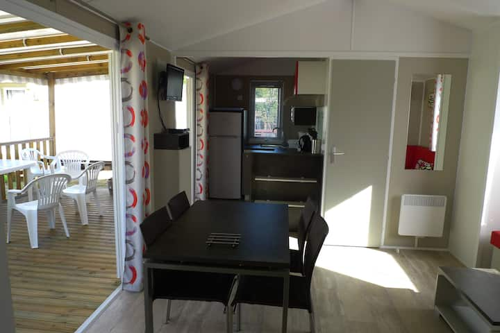 Mobil home luxe 2Ch en camping 4* Sanguinet lac.