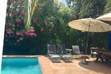 Sector terraza piscina