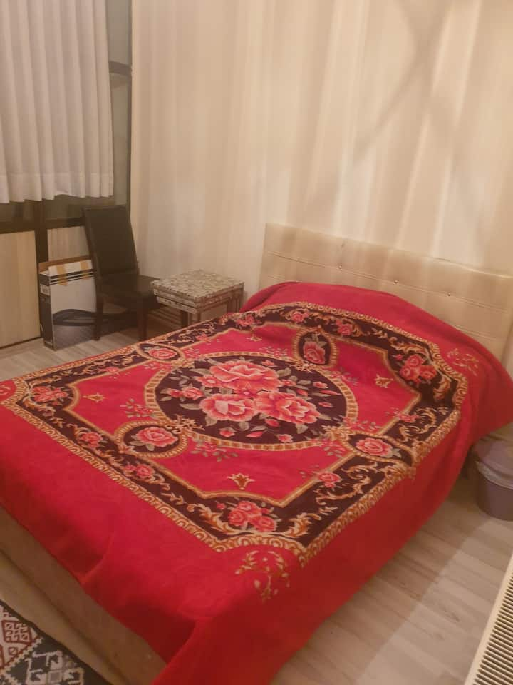 privatedouble bed room with garden view in fatih