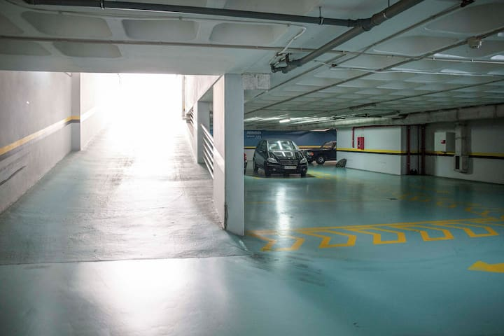 By the way, this is our private garage - ask for it if you need a parking spot.