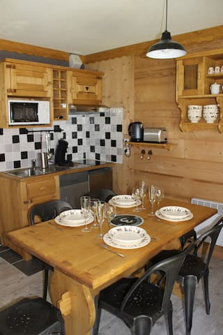 Charmant studio +cabine aux Contamines Montjoie