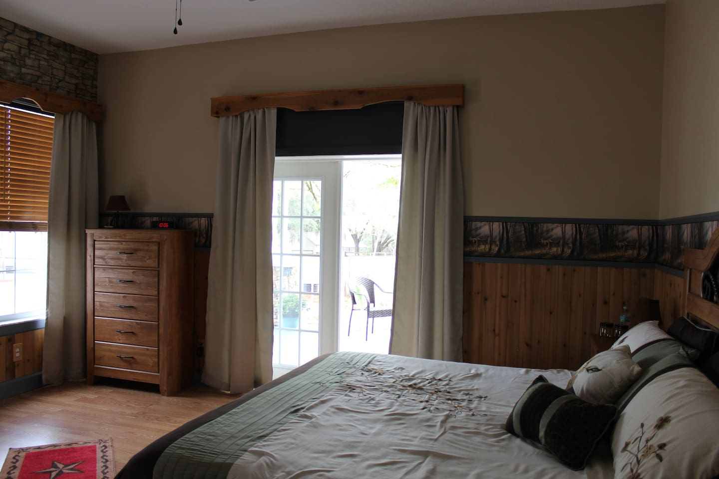 With French doors