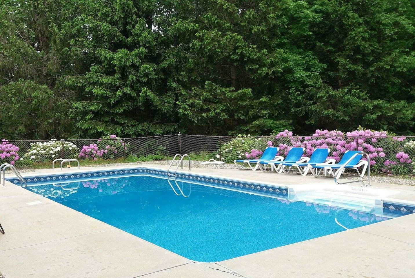 Relax by the pool after a long day or just spend the whole day in this oasis right out your back door.