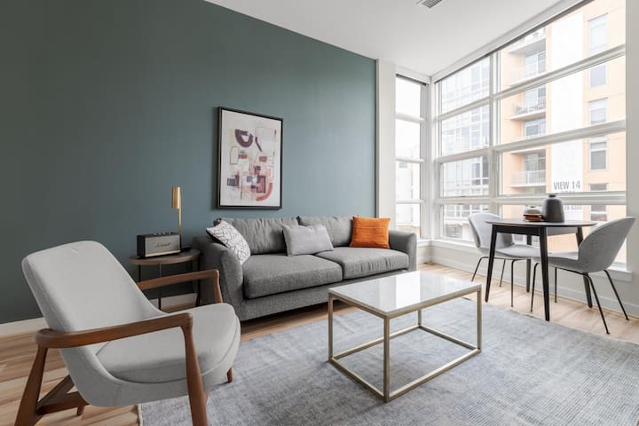 Cosy U Street 1BR w/ Rooftop, W/D, nr. Lincoln Theatre, by Blueground