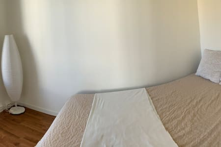 White and bege room