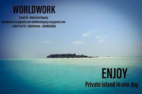 Vovoy vistas a la playa - viajes de trabajo en el mundo