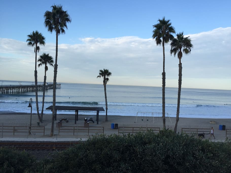 A beach for families, surfers, and walks along the beach trail.