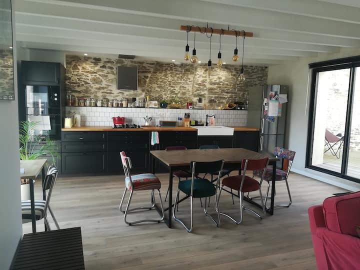 Agréable maison en pierre dans le vignoble nantais