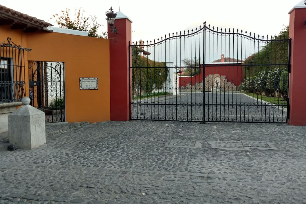 Entry to our guarded neighborhood