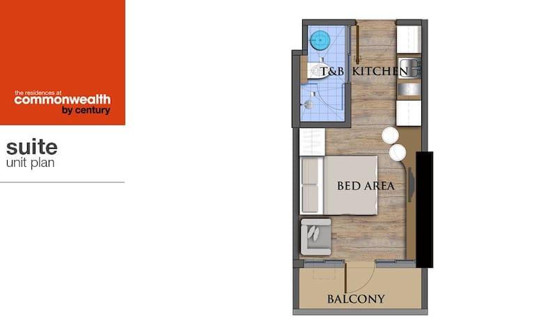 Brand New Studio Apartment in Quezon City-LongTerm