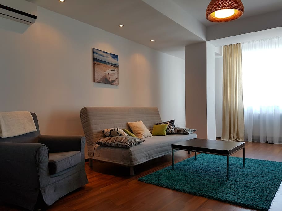 Living area with sofa
