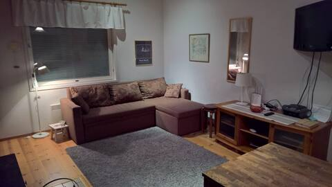 Row house apartment with sauna in Levi center