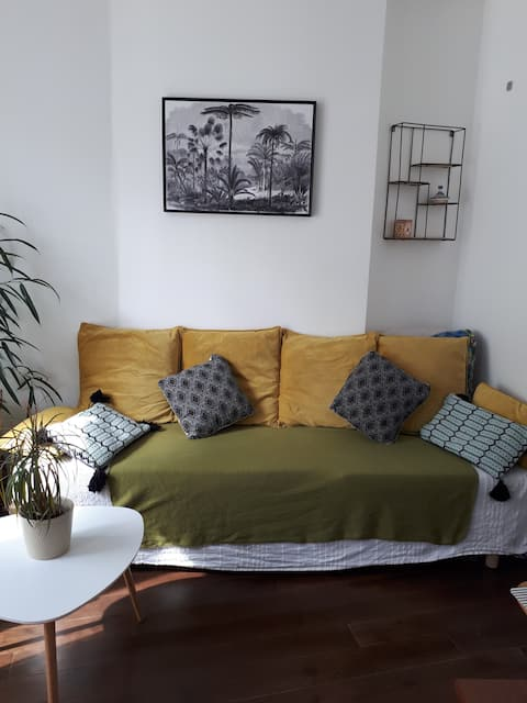 Appartement cosy proche du parc de Belleville