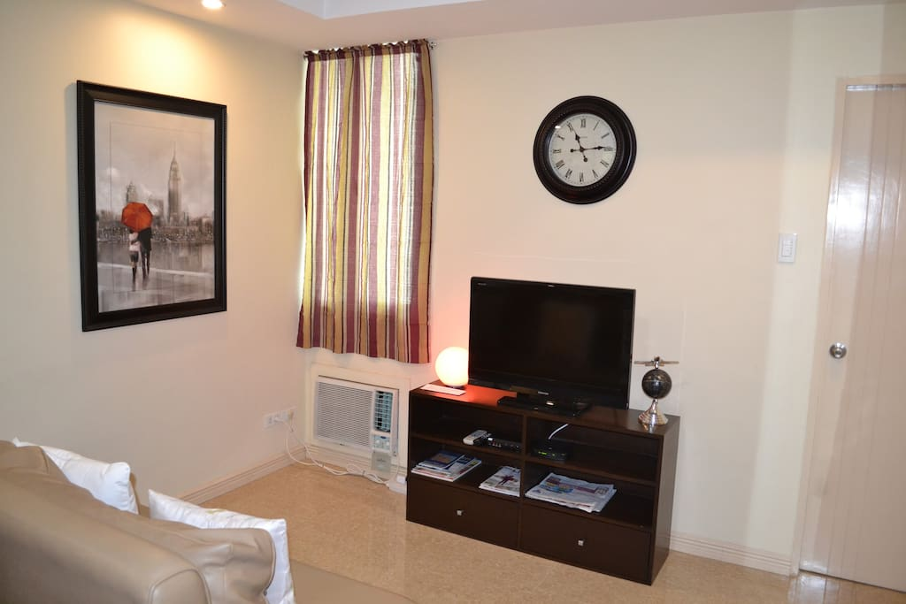 Cozy Living Room with Free Fast WiFi by Skycable