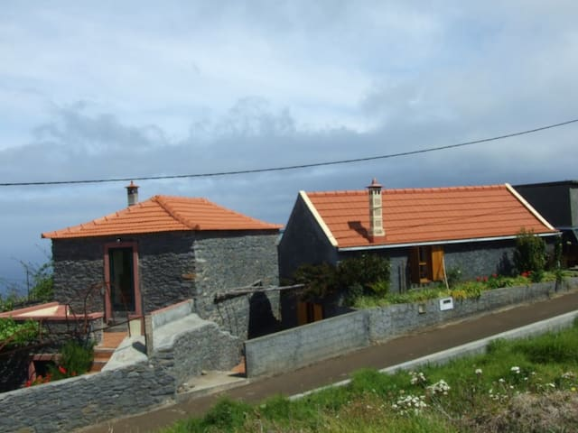 Madeira stone house in vines