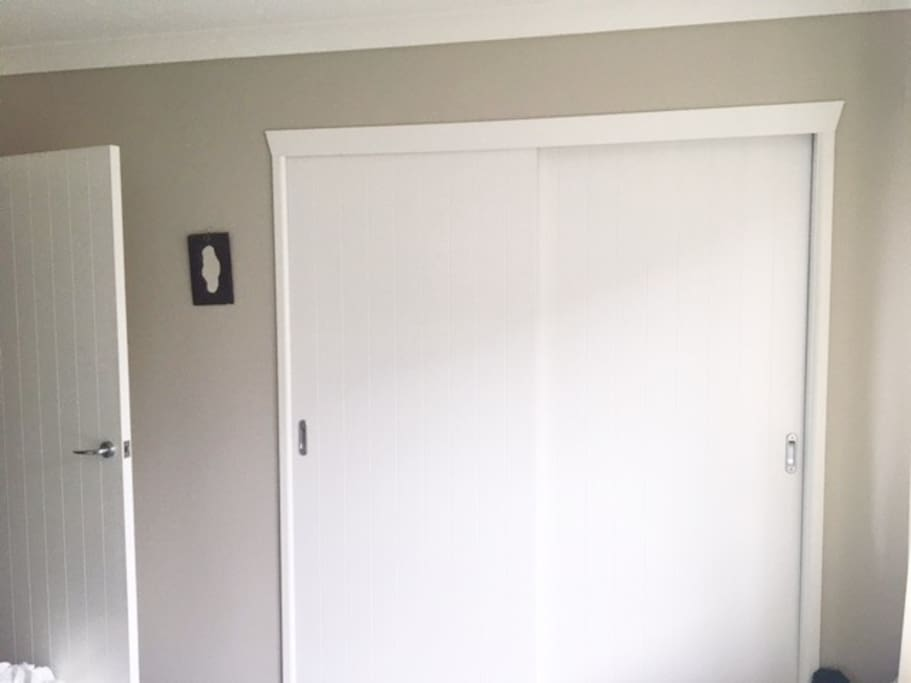 Double wardrobe space