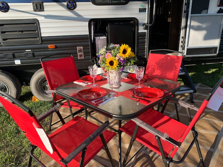 Conveniently located yet private camping
