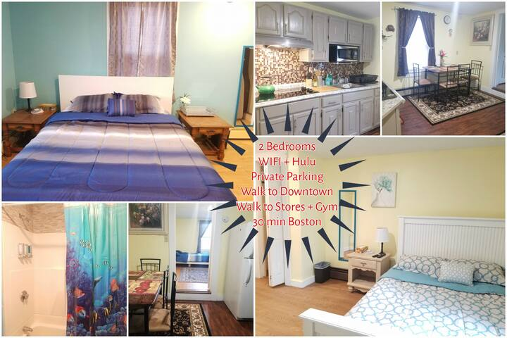 ✽Commuter's Dream 2BR APT✽Parking| Downtown Lowell