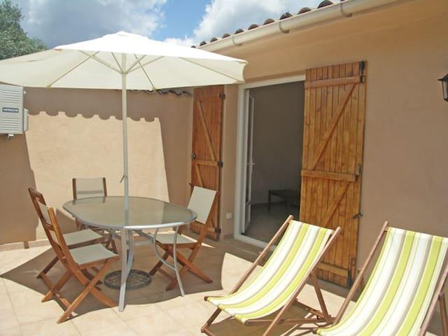 F2 terrasse, jardin, clim, wifi... - Porto-Vecchio - Apartamento