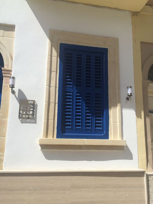 Original Old Maltese window wood work  and limestone works all in perfect use ..