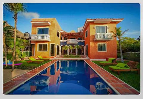 Beautiful Tulum Villa; staff/chef, pool,views