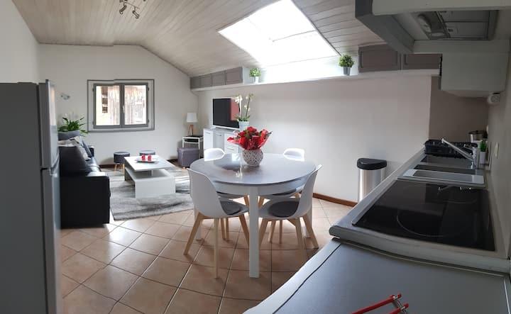 Appartement clair et spacieux avec garage privatif