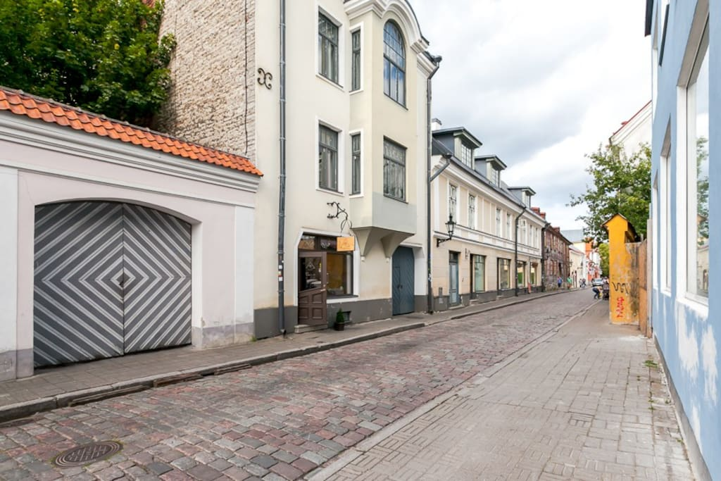 The apartment is in the heart of the UNESCO protected Tallinn  Old Town.