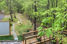 Ramp leading into treehouse!