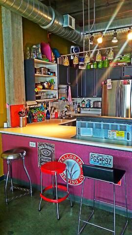 ittybitty: a loft by Hostel KC   Top Bunk Gray