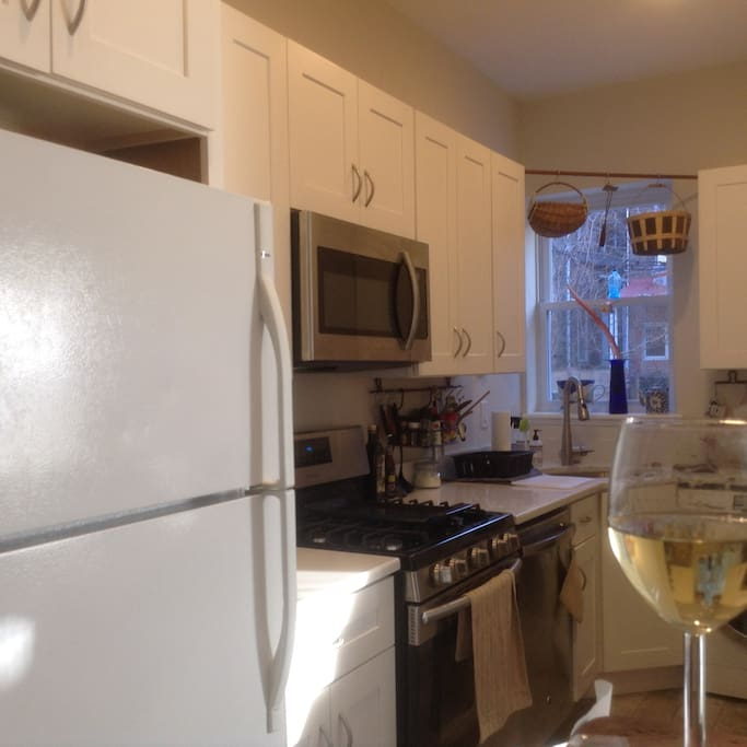 kitchen with brand new stainless steal appliances