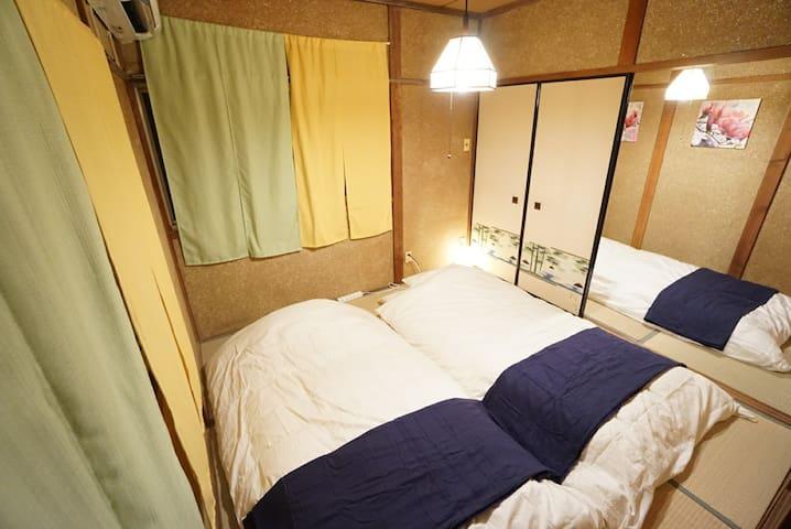 难波徒步6分可到/去京都直达56分钟/独立住宅/最大5人_SJ70