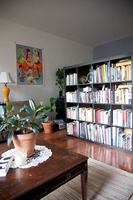 Lots of art books and literature to satisfy the reader