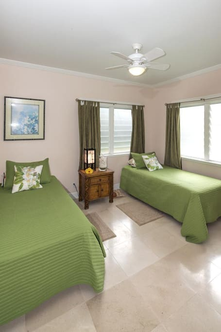 Guest bedroom. Two single beds