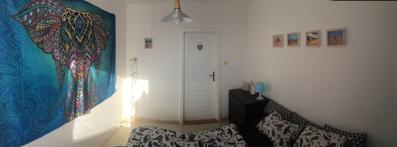 Nice room with balcony and 2 bathrooms! - Praha - Leilighet